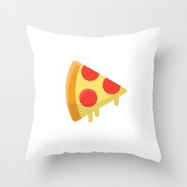 Pizza sticker. Fun cartoon mood. Throw Pillow
