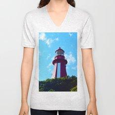 La Martre Lighthouse from Below Unisex V-Neck