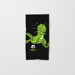 Soccer T-Rex Dinosaur Hand & Bath Towel
