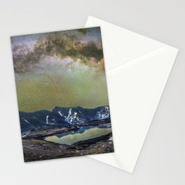 Milky way over loveland pass Stationery Cards