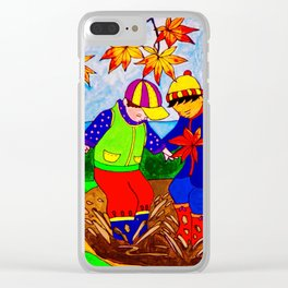 Splashy Puddle Jumpers Clear iPhone Case