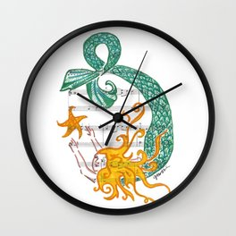Even Mermaids Reach For the Stars Wall Clock