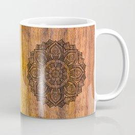 Mandala on Wood Coffee Mug
