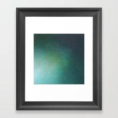 Emerald Sea Light Framed Art Print