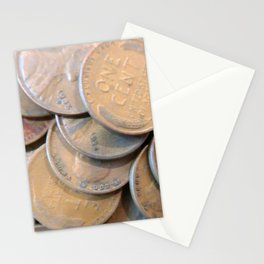 Watercolor Coins, Lincoln Wheat Pennies, 1934/35 01 Stationery Cards