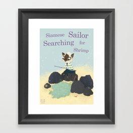 S is for Siamese Sailor Searching for Shrimp Framed Art Print