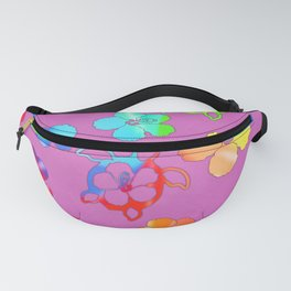 Tie Dye Honu And Hibiscus Fanny Pack