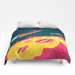 FLYING SAUCERS ATTACK Comforters