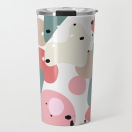 colorful shapes and figures Travel Mug