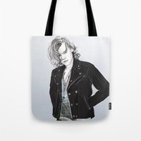 coconutwishes Tote Bags featuring Biker Styles by Coconut Wishes