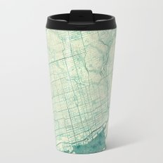Toronto Map Blue Vintage Travel Mug