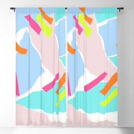 Pastel Paper with Neon Stripe Blackout Curtain