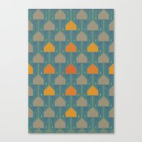camping Canvas Prints featuring Camping by Mimi