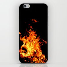 Fire Element Flames Bold Orange Red Yellow Brilliant Color Modern Art Photography iPhone & iPod Skin