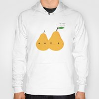 pear Hoodies featuring We make a nice pear by UiNi