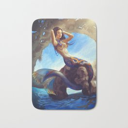 Mexican Mermaid Bath Mat