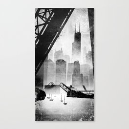 Sears Tower (from the Kinzie Bridge, Chicago, IL) Canvas Print