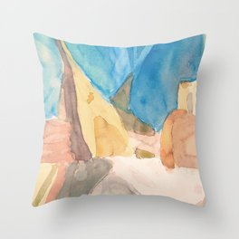 String Instruments and Books Throw Pillow
