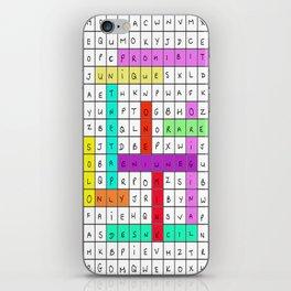 WORDSEARCH LOVE iPhone Skin