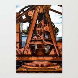 The Old Rusty Ship Crane Canvas Print