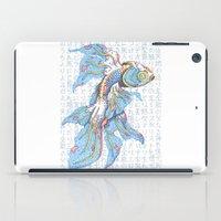 koi fish iPad Cases featuring Koi Fish by MadameAce