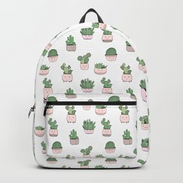 Succulent cactus cute pattern Backpack