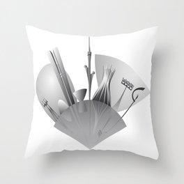 Brasilia city skyline Throw Pillow