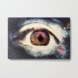 Eye Dreams Keep Quiet 7 Metal Print