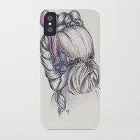 shih tzu iPhone & iPod Cases featuring 18th Century Shih-Tzu by Michelle J Poston