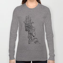 Girl With Ship Long Sleeve T-shirt