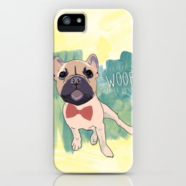 Frenchie Art. Bruno. iPhone Case