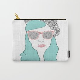 Typographic portrait Carry-All Pouch