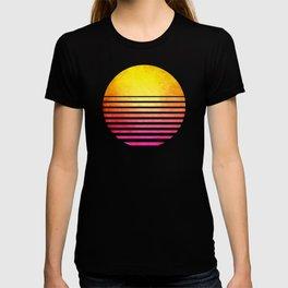 Vintage Retro 80's Synthwave Sun T-shirt