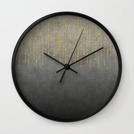 Dark Glamour golden faux glitter Wall Clock