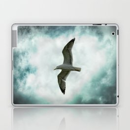 Seagull Before A Cloudy Sky Laptop & iPad Skin