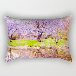 Spring at Arnold Arboretum Rectangular Pillow