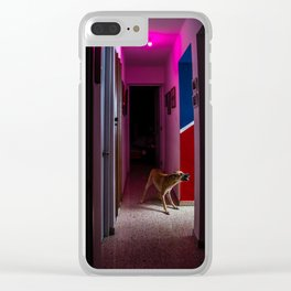 Eva at night Clear iPhone Case
