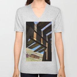 Ghost town barn Unisex V-Neck