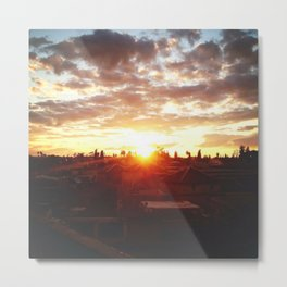 Moroccan Sunset Metal Print