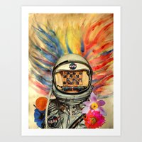 nasa Art Prints featuring NASA Messed Me Up by Collage Calamity