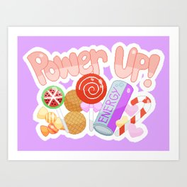 Candy Power Up Art Print