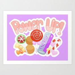 Candy Power Up Art Print