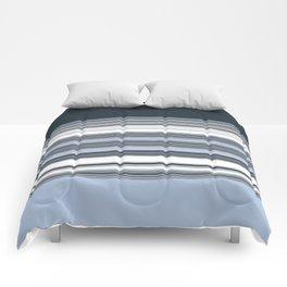 Navy Blue Stripes Comforters