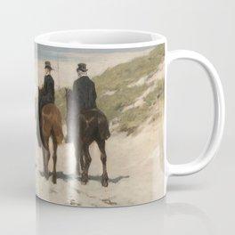 Morning ride along the beach, Anton Mauve (1876) Coffee Mug