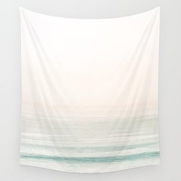 Washed Out Ocean Waves // California Beach Surf Horizon Summer Sunrise Abstract Photograph Vibes Wall Tapestry