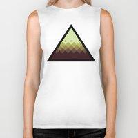 pyramid Biker Tanks featuring Pyramid by Jandris Illustration