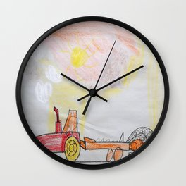 Manure Spreader at Sunrise Wall Clock
