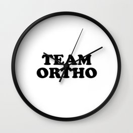 Team Ortho Wall Clock