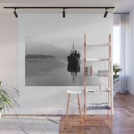 Fjord ship Wall Mural