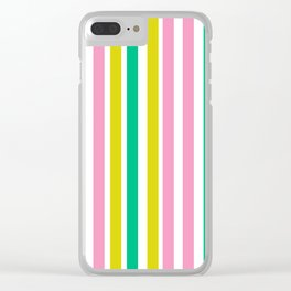 Lucky Stripes 02 Clear iPhone Case